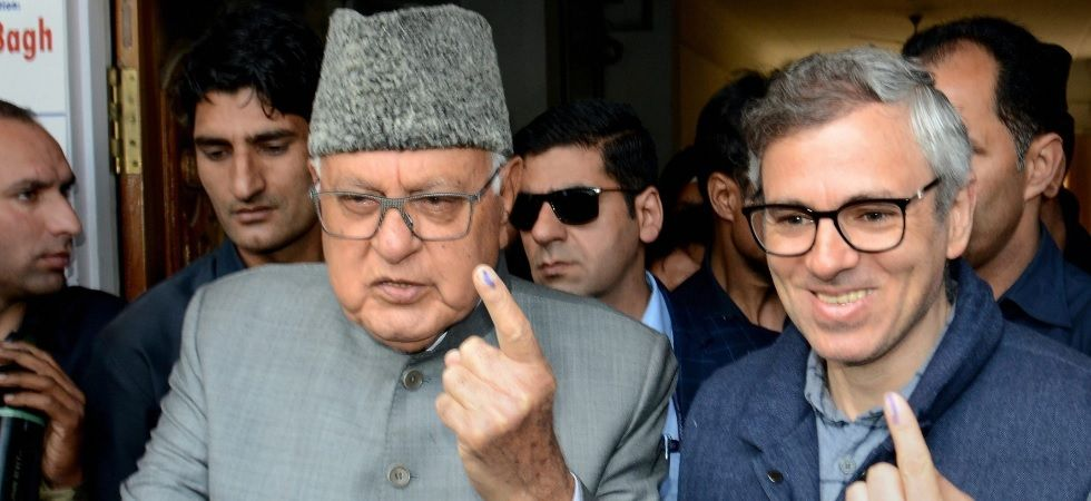 National Conference president Farooq Abdullah and former chief minister Omar Abdullah on Thursday cast their vote in Srinagar Parliamentary constituency