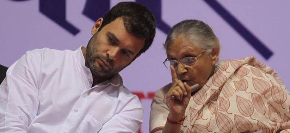 Congress president Rahul Gandhi and Delhi Congress chief Sheila Dikshit (File Photo)