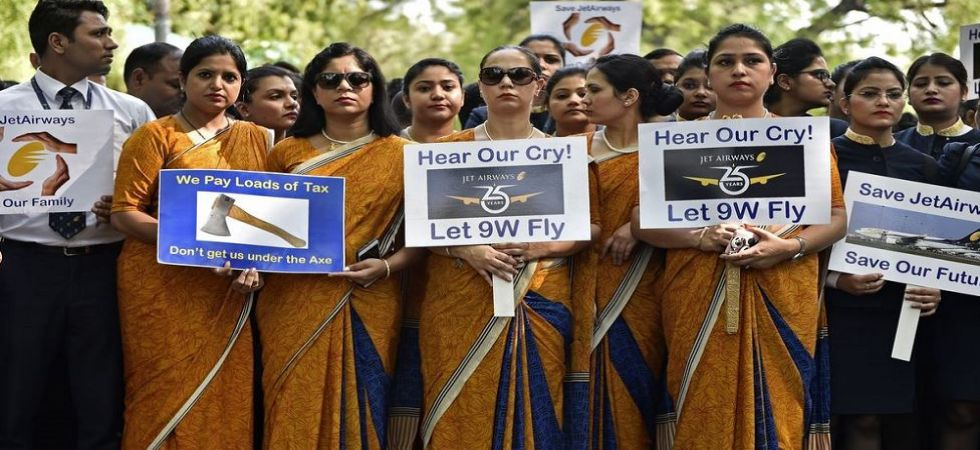 Jet Airways employees protest (File Photo)