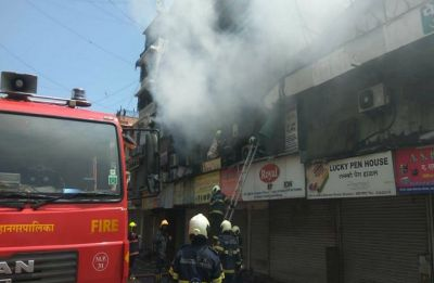 Fire breaks out in Mumbai's famous Crawford Market, 4 fire tenders at spot