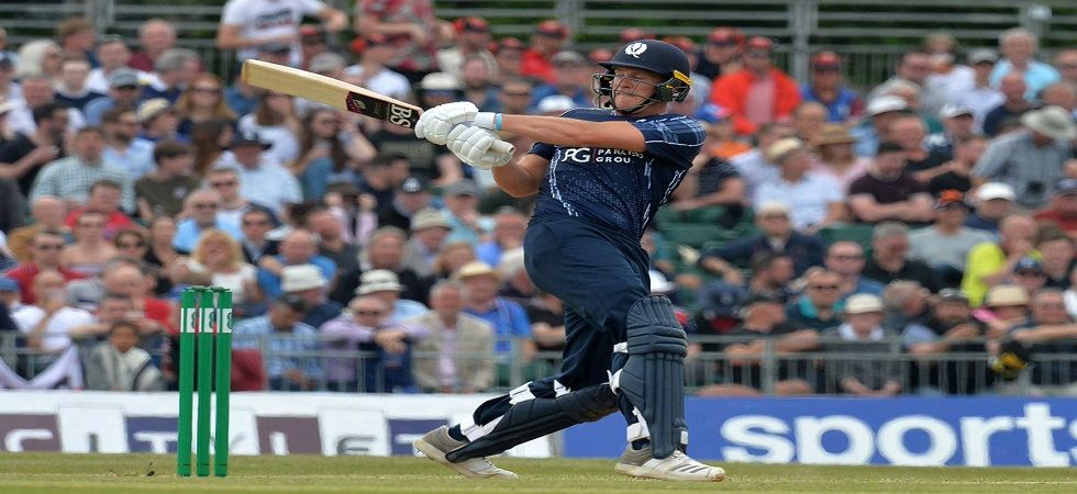 George Munsey, who plays for Scotland in international cricket, blasted a 25-ball century in a Twenty20 game. (Image credit: Twitter)