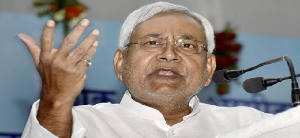 Nitish Kumar also exhorted voters to cast their ballots in favour of the BJP candidate from Araria Lok Sabha constituency. (File Photo: PTI)