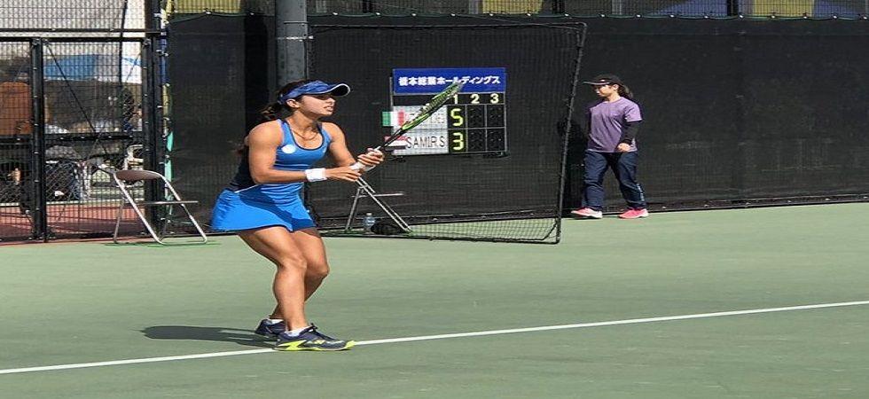 Ankita Raina achieved her biggest win of her career as she defeated former US Open champion Ankita Raina. (Image credit: Twitter)