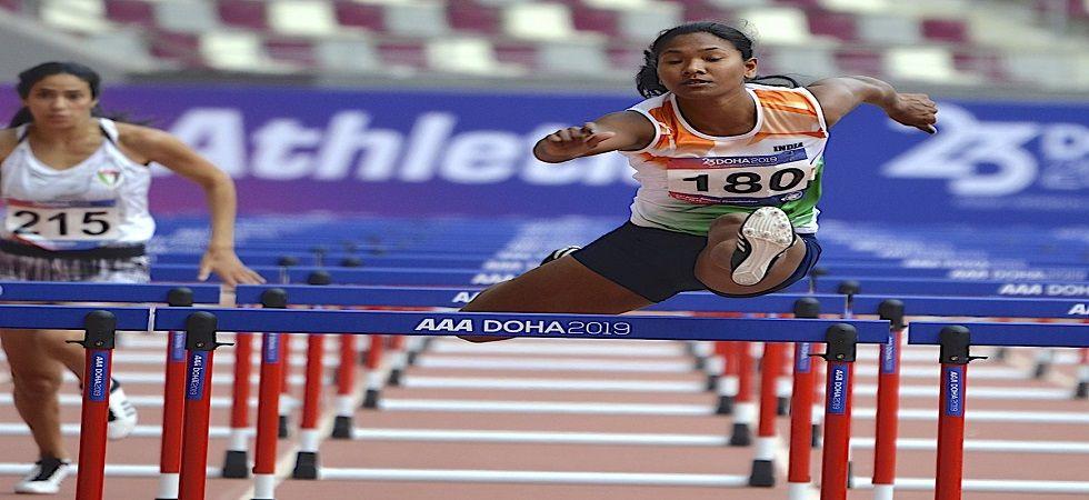Swapna Barman settled for a silver in women's heptathlon (Image Credit: Twitter)