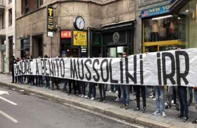 Lazio win vs AC Milan in Coppa Italia overshadowed by racist chants and pro-Benito Mussolini banner