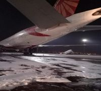 Air India's Boeing aircraft catches fire at IGI Airport, charred plane put out of service