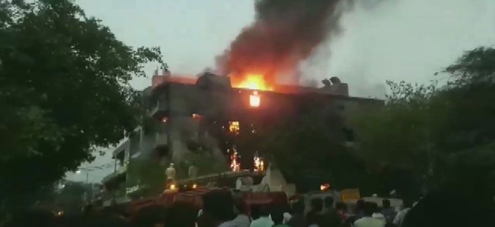 Efforts are underway to douse the flames. (Image Credit: ANI)