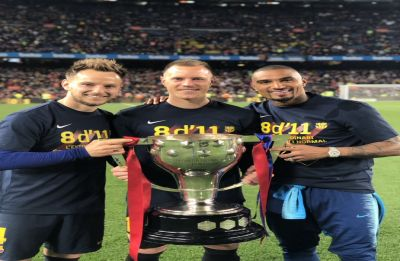 Lionel Messi helps Barcelona seal eighth La Liga title in 11 years