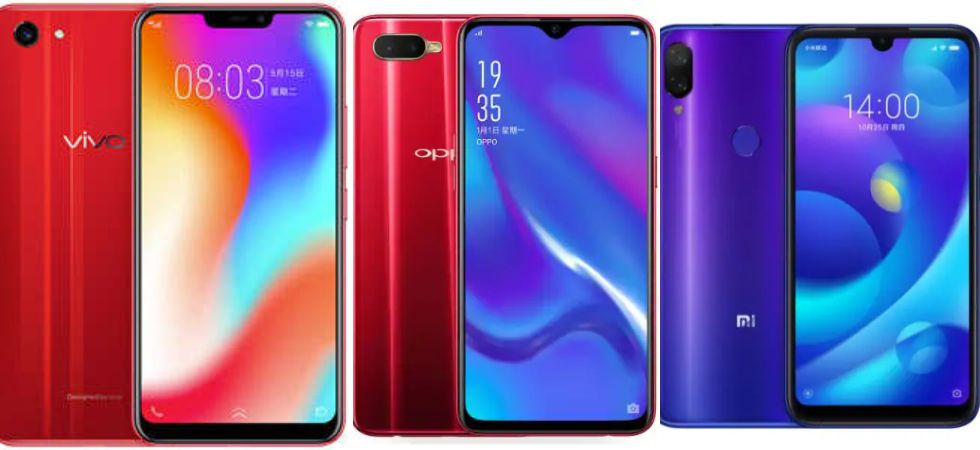 Vivo vs Oppo vs Xiomi (File Photo)