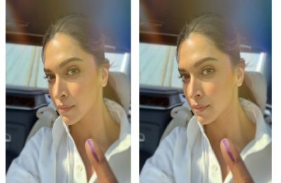 Deepika Padukone clears doubt over Indian citizenship, flaunts inked finger after casting vote