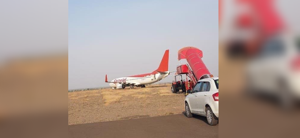 The aircraft touched down some 30-40 meters away from the landing spot and veered off the runway (ANI Photo)
