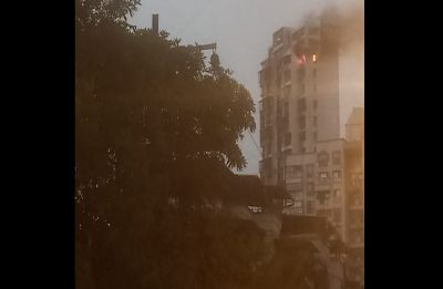 Fire breaks out in high-rise building at Navi Mumbai's Airoli sector, fire tenders rushed to spot