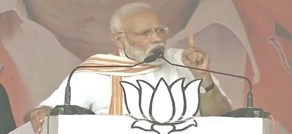 Prime Minister Narendra Modi during his rally in Ayodhya on May 1 (Photo: Twitter)