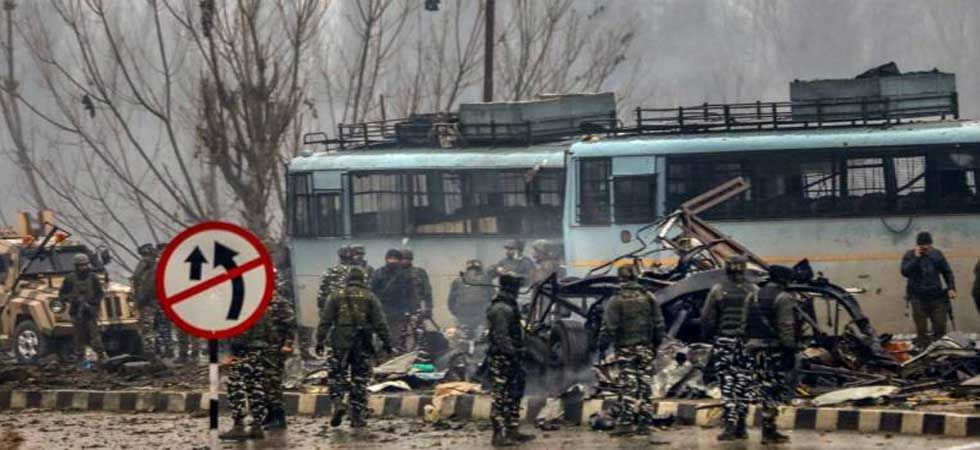 Spot visuals after Pulwama attack (PTI Photo)