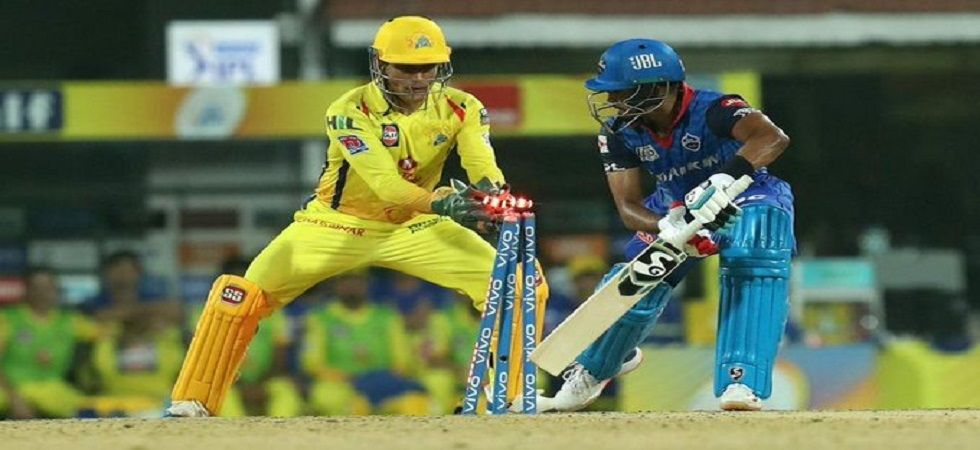 MS Dhoni effected two stumpins and a catch and also smashed 44 off 22 balls to help Chennai Super Kings beat Delhi Capitals by 80 runs. (Image credit: Twitter)