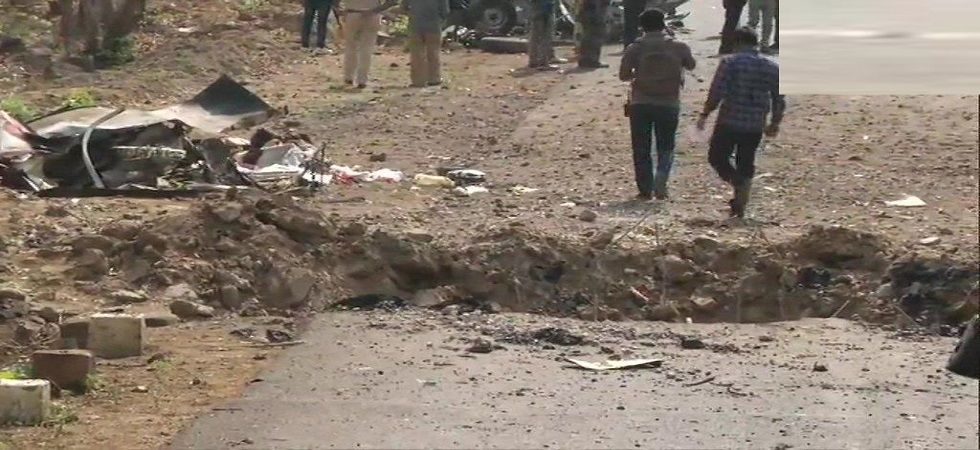 The blast took place between Jamborkheda and Lendhari of the district when the group of security personnel stepped out for their patrolling duty. The exchange of fire was underway between police and Maoists when the last reports came in. (Photo: ANI)