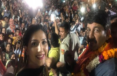 Crowd creates ruckus at Manoj Tiwari's rally attended by Sapna Chaudhary, police resort to lathi-charge