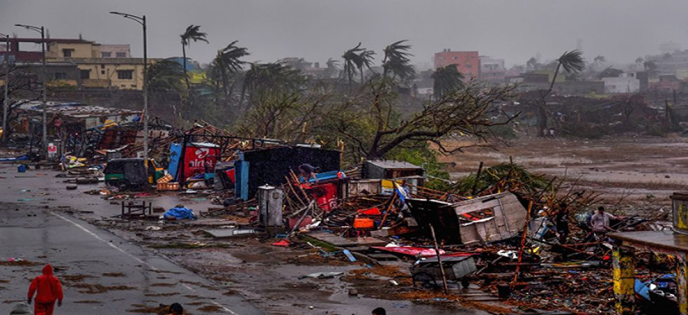 Damage caused by Cyclone Fani in Odisha.