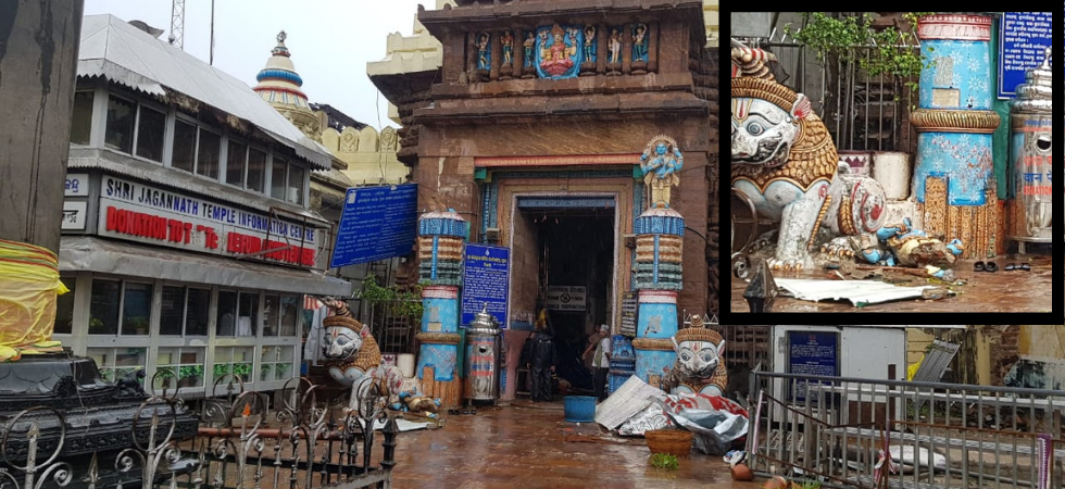 Fani made landfall around 8 am in Puri, with roaring winds flattening huts, enveloping the pilgrim town in sheets of rain, and submerging homes in residential areas. (Photo: News Nation)