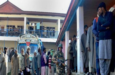 2 school buildings designated as polling booths set afire in Jammu and Kashmir's Shopian