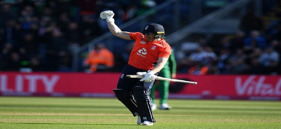 Eoin Morgan blasted a fifty off just 29 balls as England registered a seven-wicket win against Pakistan, the No.1 ranked T20I side in the one-off game in Cardiff. (Image credit: Twitter)