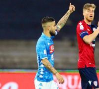Napoli beat Cagliari 2-1, secure second spot in Serie A football