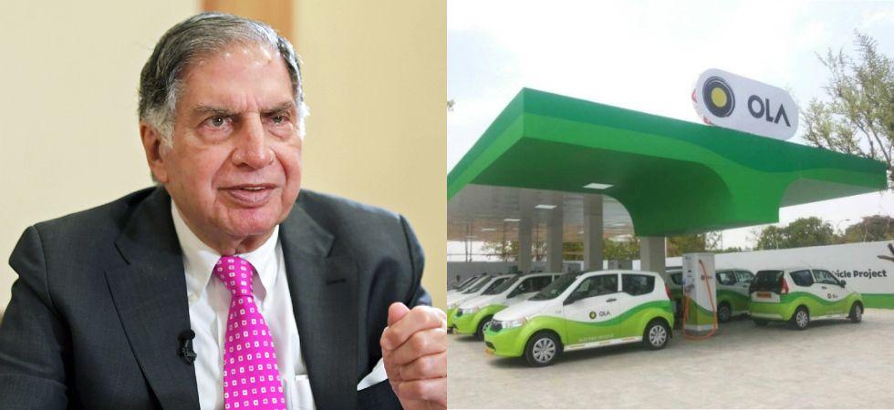 Ratan Tata & Ola Electric Mobility (Photo Credit: Twitter)