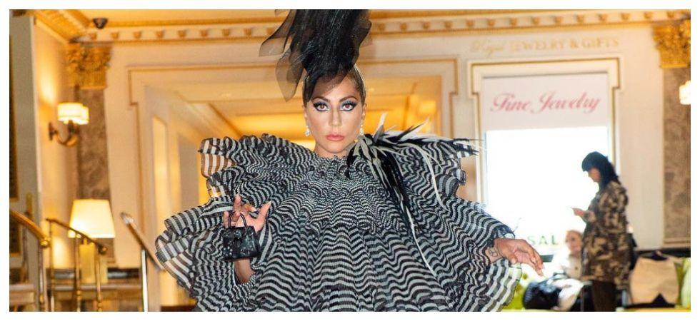 Lady Gaga's arrives in ruffles at pre-Met Gala party (Photo: Instagram)