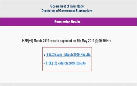 Tamil Nadu 11th Result 2019 declared on tnresults nic in