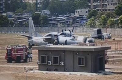 Indian Air Force's AN-32 aircraft overshoots runway at Mumbai airport, several flights delayed