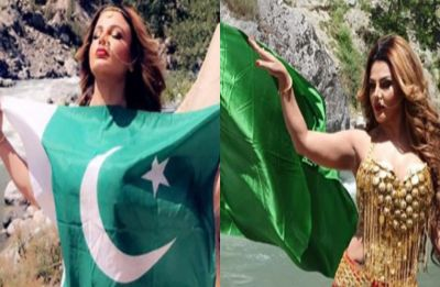 Rakhi Sawant poses with Pakistan's flag on her; become easy target of trolls