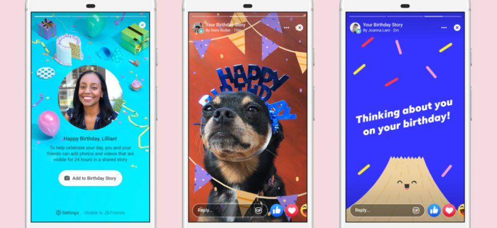 Facebook new birthday Stories (Photo Credit: Facbook blog)
