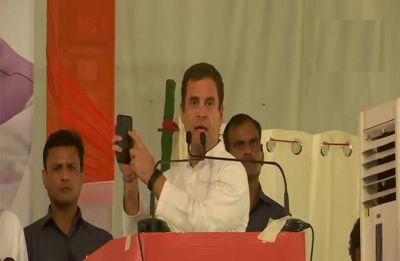 Sound system, mic failure halts Rahul Gandhi's rally speech in Chandigarh