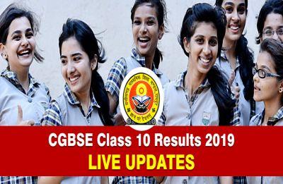 LIVE NOW CGBSE Chhattisgarh Board 10th Result 2019, CHECK SCORES HERE