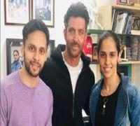 When Saina Nehwal and her husband met Hrithik Roshan