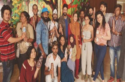 Dia Mirza gifts customized metal bottles to Kaafir crew during second schedule in Mumbai