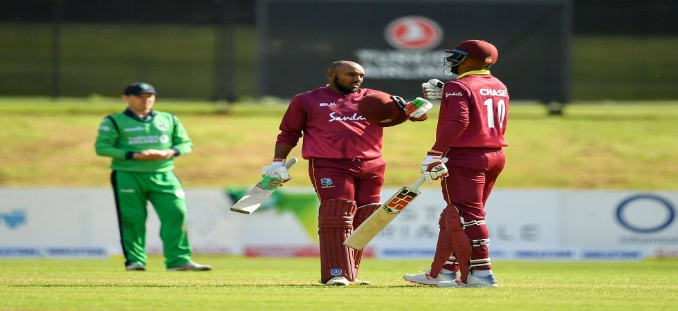 West Indies achieved their highest successful chase in ODIs when they knocked off 328 against Ireland. (Image credit: WIPA Twitter)