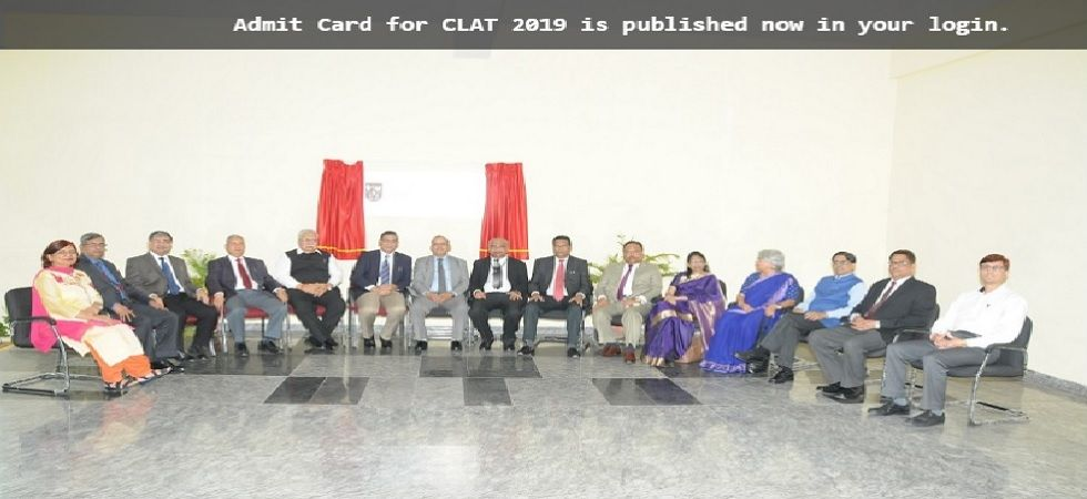 CLAT 2019 admit card released