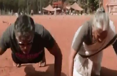 Watch: On Mother's Day, Milind Soman's 80-year-old mother shows how to nail the push-up challenge
