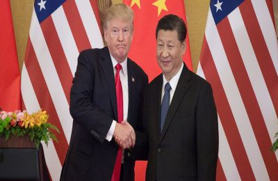 US President Donald Trump describes trade tension with China as 'little squabble'