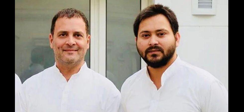 Tejashwi Yadav and Rahul Gandhi (File Photo)