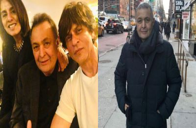 Shah Rukh Khan visits Rishi Kapoor and Neetu Kapoor in New York, see PIC