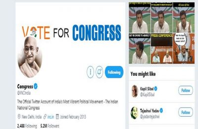 After 'Godse a patriot' row, Congress switches to Mahatma Gandhi's image on Facebook, Twitter
