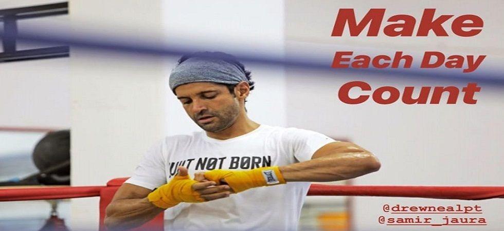 "Toofan in making- ""Make each day count"" says Farhan Akhtar"