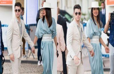 Cannes 2019: Priyanka Chopra, Nick Jonas look amazing as they walk hand-in-hand at French Riviera