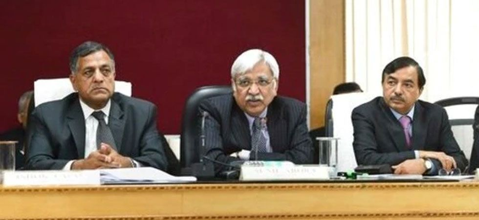 Chief Election Commissioner Sunil Arora, election commissioners Ashok Lavasa (Left) and Sushil Chandra.