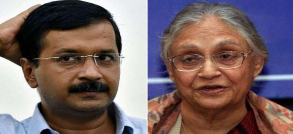 Arvind Kejriwal (Left), Sheila Dikshit (Right)