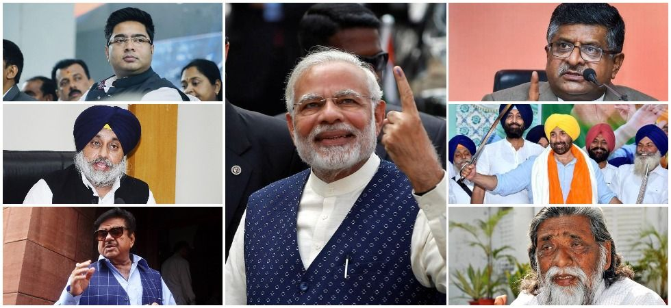 Prime Minister Narendra Modi, Union Minister Ravi Shankar Prasad, BJP's Sunny Deol, former Jharkhand CM Shibu Soren, Trinamool Congress' Abhishek Banerjee, SAD chief Sukhbir Singh Badal and Congress' Shatrughan Sinha.