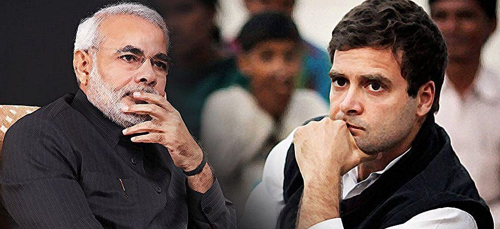 Prime Minister Narendra Modi (Left), Congress president Rahul Gandhi (Right)