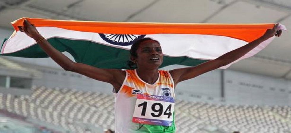 Gomathi Marimuthu clocked 2 minutes 2.70 seconds to win gold on April 22 at the Asian Athletics Championship in Doha. (Image credit: Twitter)